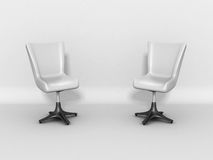 Two Modern Shiny Chairs As Discussion Concept Royalty Free Stock Photography