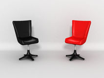 Two Modern Shiny Chairs As Discussion Concept Royalty Free Stock Image