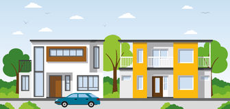 Two modern Townhouses Stock Photography