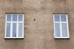 Free Two Modern Windows On The Facade Of The House Royalty Free Stock Image - 110845276
