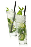 Two mojito cocktail Stock Images