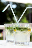 Two mojito cocktails Stock Photo