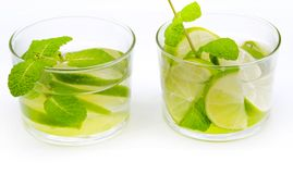 Two mojito glasses Royalty Free Stock Images