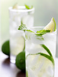 Two mojitos closeup Stock Photo