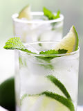 Two mojitos closeup Stock Images