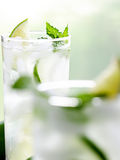 Two mojitos with selective focus Stock Photos