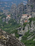 Two monasteries at Meteora, Greece Stock Photo