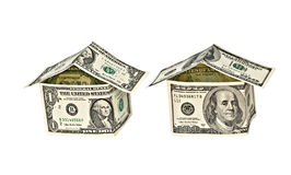 Two money houses Stock Photos