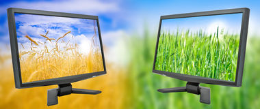 Two Monitor Royalty Free Stock Images
