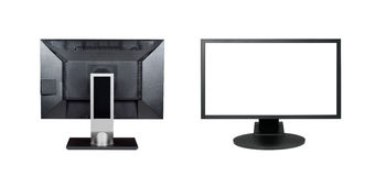 Two monitors isolated. On white background Royalty Free Stock Image
