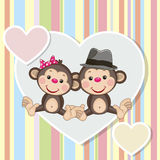 Two Monkeys Stock Image