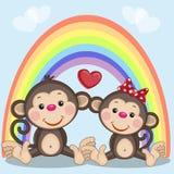 Two Monkeys Royalty Free Stock Photo