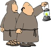 Two monks Stock Images