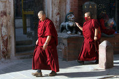 Two monks Royalty Free Stock Image