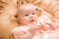 Two-month old baby girl baby girl Royalty Free Stock Images