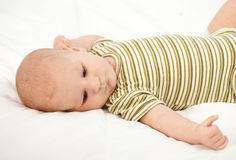 Two months old baby boy Royalty Free Stock Photos