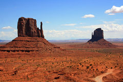 Two monuments in Monument Valley Stock Images