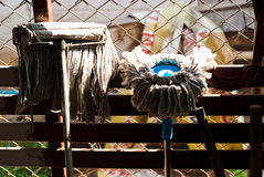 Two mops in thai house Royalty Free Stock Image