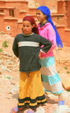 Two Moroccan girls in village Royalty Free Stock Images
