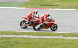 Two MotoGP 250cc rider with same company Stock Image