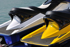 Two motor boat detail Stock Photography