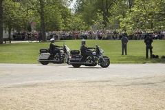 Two motorcycle policemen Royalty Free Stock Image