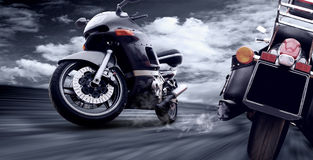 Two motorcycles Stock Image
