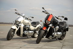Two motorcycles Stock Photos