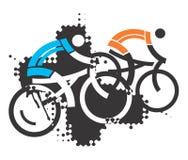 Two mountain bikers. Royalty Free Stock Photo