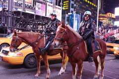 Two Mounted NYPD Officers stock photography