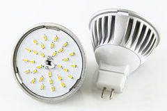 Two MR16 LED bulbs without accidentally Royalty Free Stock Photography