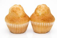 Two muffins Royalty Free Stock Photos