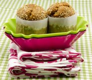 Two muffins Stock Images