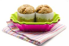 Two muffins Royalty Free Stock Photo
