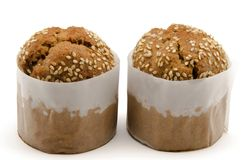 Two muffins Royalty Free Stock Photography