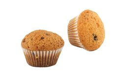 Two muffins. Isolated on white Stock Photo
