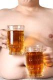Two mug of beer Royalty Free Stock Photos