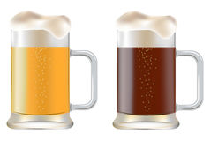 Two mug of beer Royalty Free Stock Photo