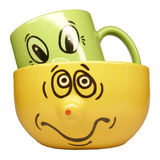 Two mugs Stock Photos