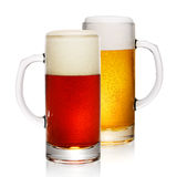 Two mugs of beer Royalty Free Stock Photos