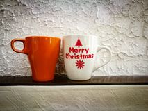Two mugs royalty free stock images