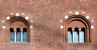 Two mullioned windows with three lights Stock Photos