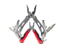 Two multi tools. On a white background Stock Images