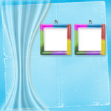 Two multicolored frames for photos Stock Photography