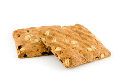 Two multigrain biscuits Royalty Free Stock Photos