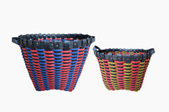 Two multipurpose plastic baskets. On white background Stock Images