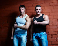 Two muscular guys Royalty Free Stock Photos