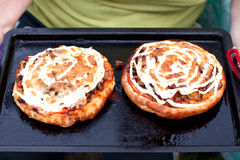 Two mushroom pizzas Royalty Free Stock Photo