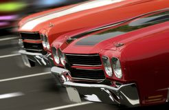 Two Mustangs Cruising Royalty Free Stock Photography