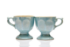 Two nacreous cups Stock Photography